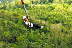 Adventure sports in Danao Adventure Park in Bohol province